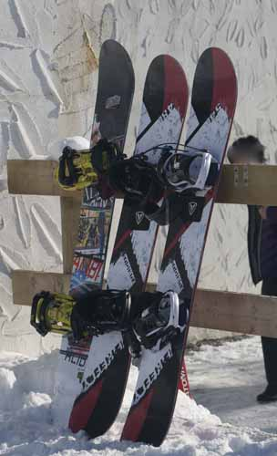 SNOWBOARDS - BIGGER THAN THEY LOOK ON THE HILL!