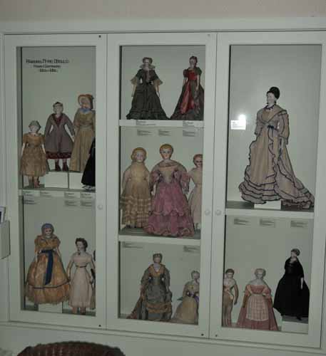 ONE OF MANY VICTORIAN DOLL DISPLAYS