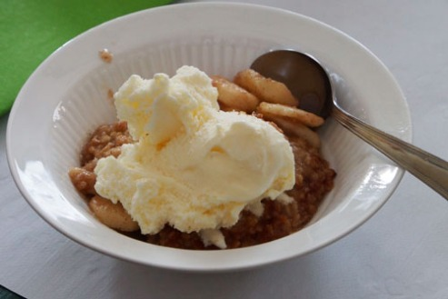 ICE CREAM AND APPLE CRISP...