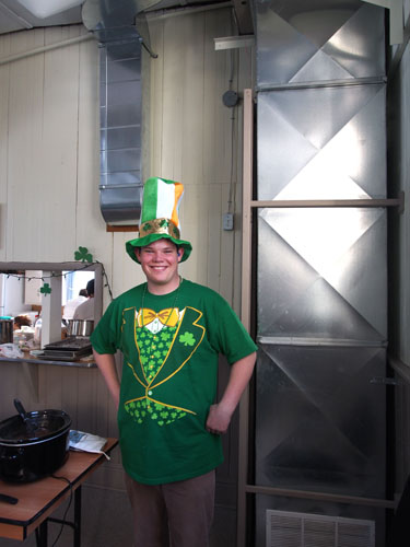 BEN IS READY FOR ST PATRICK'S DAY