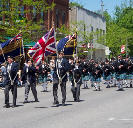 LEGION BAND AND BAGPIPERS